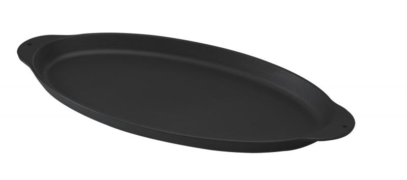 fisch pfanne guss oval metallgriffe. Black Bedroom Furniture Sets. Home Design Ideas